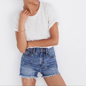 Madewell The Perfect Jean Short: Daisy Embroidered